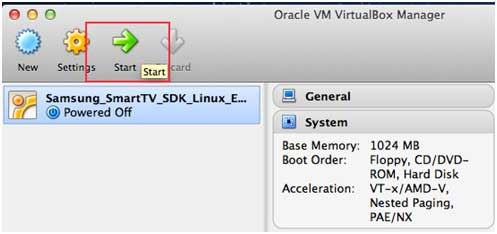Using the Smart TV Emulator with VirtualBox