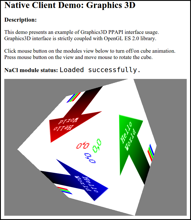 Figure 1. 3D graphics in C++ application