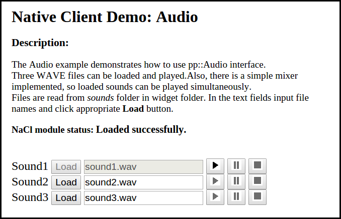 Figure 1. Audio in C++ application