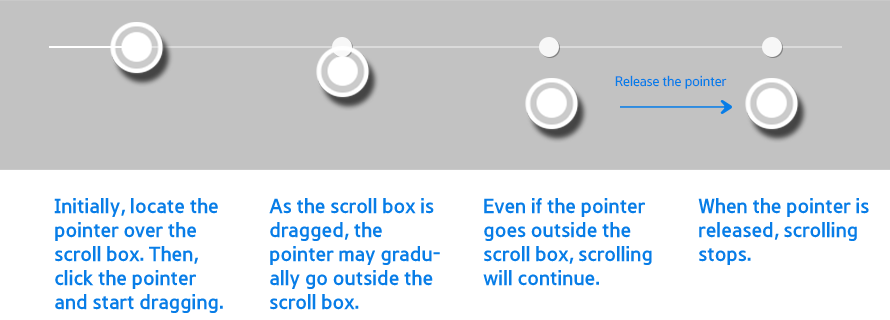 Figure 3-21. Dragging the scroll bar