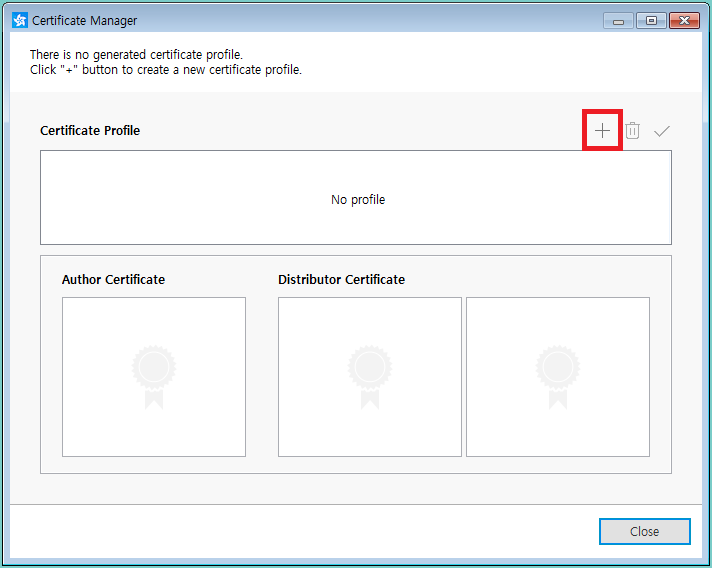Figure 3. Create a new certificate profile