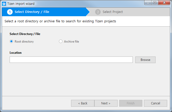 Figure 7. Import from directory or file