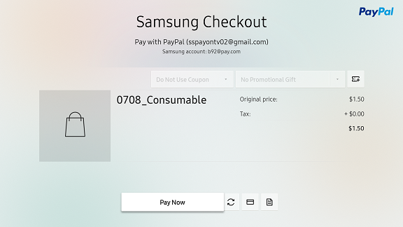 Implementing the Purchase Process | SAMSUNG Developers