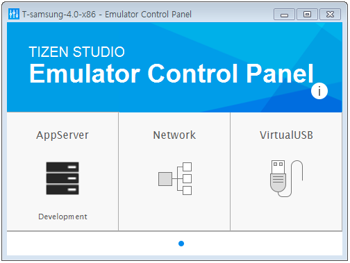 Emulator Control Panel | SAMSUNG Developers