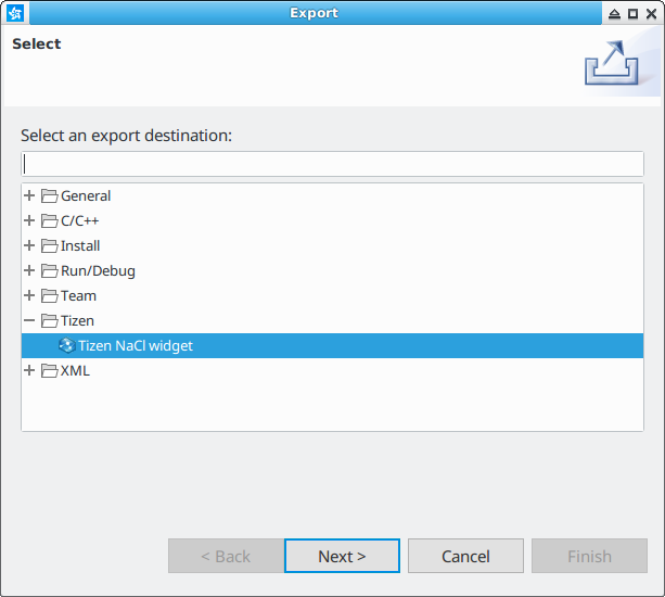 Figure 3. Select exported file type