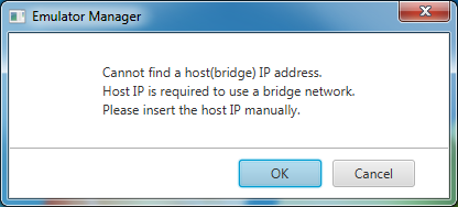 Figure 4. Host IP address popup
