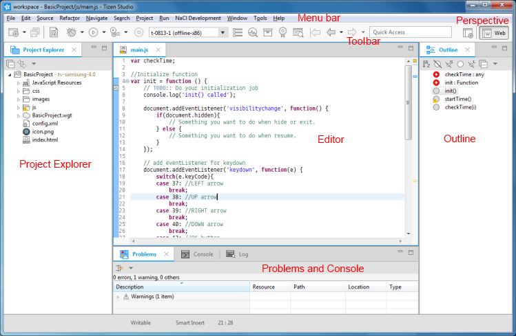 IDE Interface and Views | SAMSUNG Developers