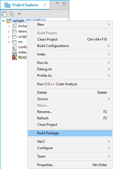 Figure 4. Build package